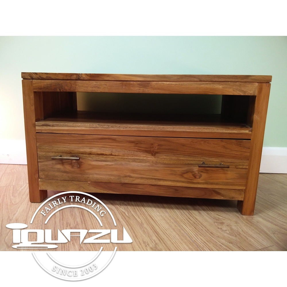 Tv Cabinet With 1 Drawer Teak