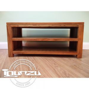 Open Shelf Tv Cabinet Slim Teak